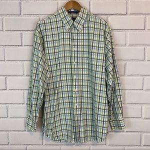 J. McLauglin 2 Ply Cotton Plaid Button Down Shirt
